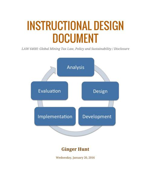 Instructional Design Document