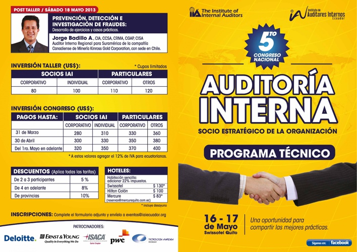 Congreso Auditoria Interna IAI Ecuador
