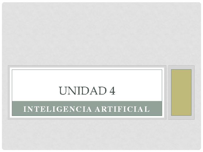 INTELIGENIA ARTIFICIAL