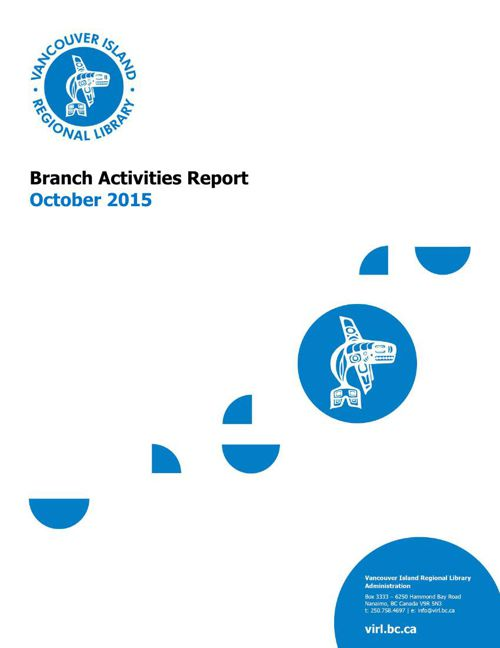 VIRL October 2015 Branch Activities Report