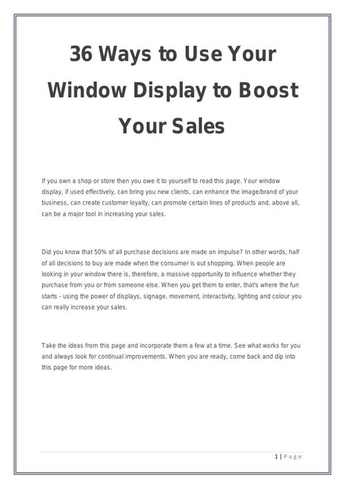 36 Ways to Use Your Window Display to Boost Your Sales