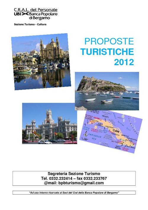 Catalogo Turismo 2012