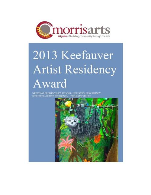 2013 Keefauver Artist Residency Grant Award
