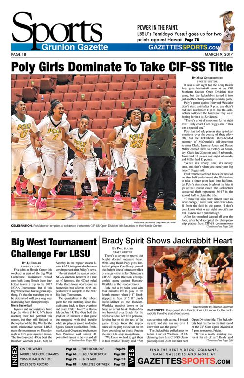 Gazette Sports  |  March 9, 2017