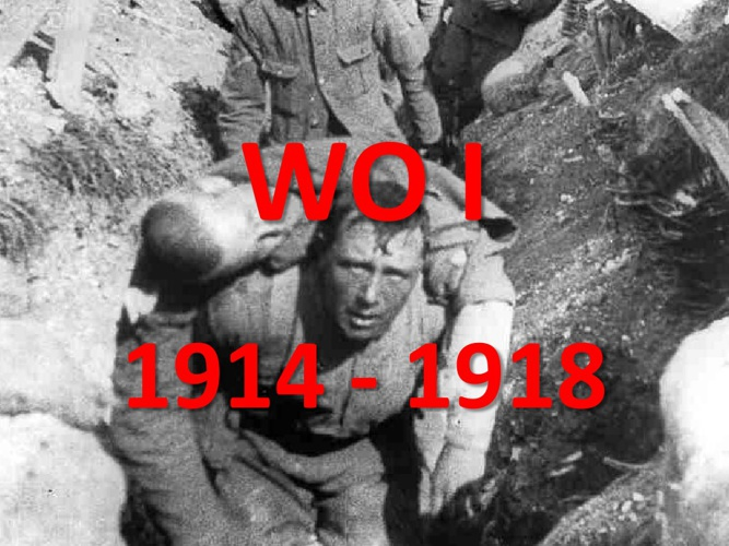 WO I - Ontstaan van de oorlog