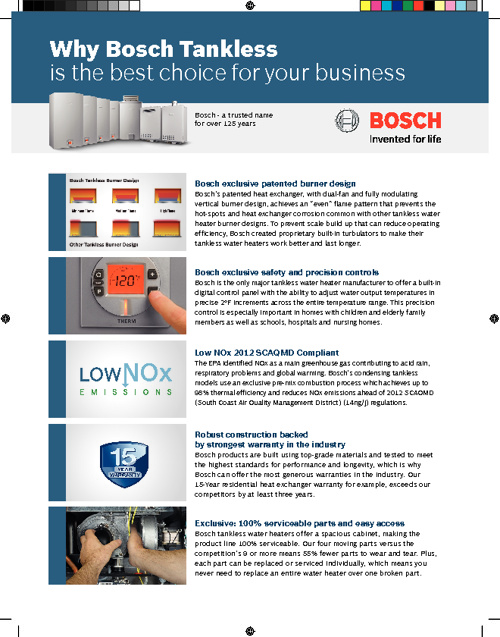 Why Bosch Tankless