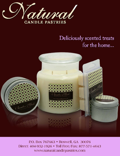 Natural Candle Pastries Catalog