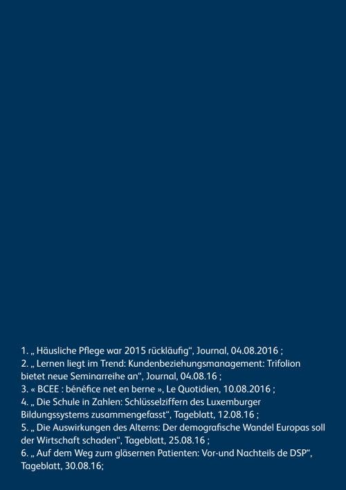 Revue de presse N°13 - août 2016