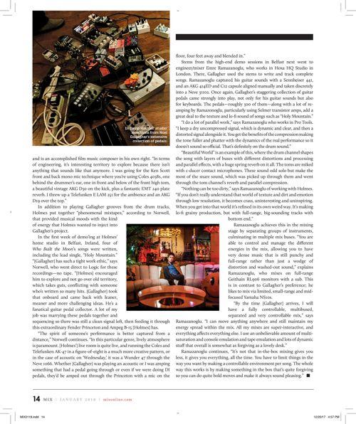 Noel Gallagher Mix Magazine