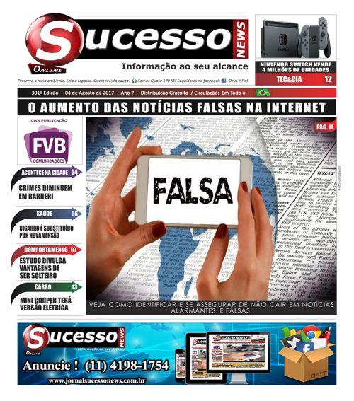 Jornal Sucesso News - Edição - 301 ONLINE