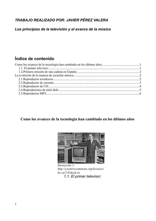 Los principios de la televisión y el avance de la música