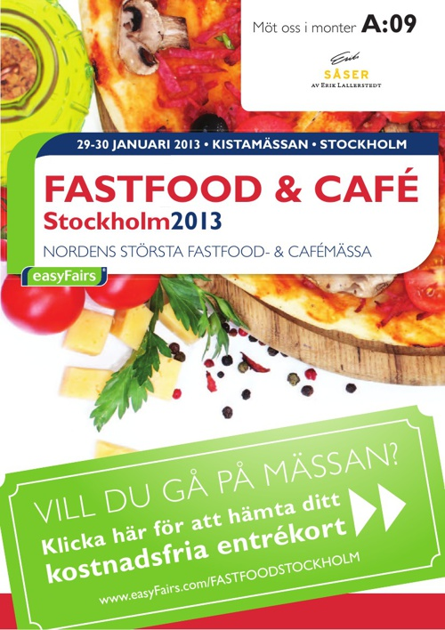 E-biljett FASTFOOD & CAFÉ Stockholm 2013 - Svenska smakuppl.