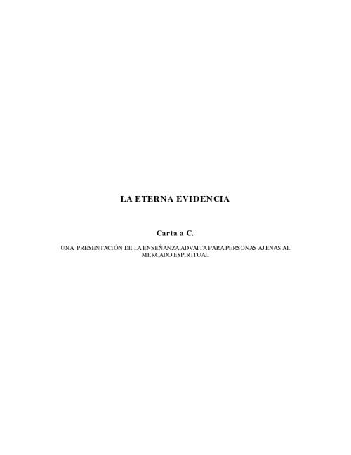 LA ETERNA EVIDENCIA (Autor: Juan Carlos Savater)