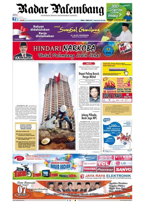 Radar Palembang Edisi 11-03-2013 Koran 1