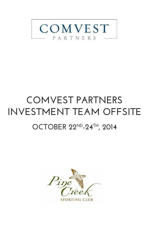 Comvest Partners Investment Team Offsite