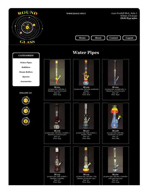 Round Glass Online Catalog