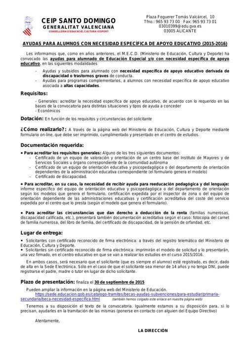 AYUDAS EDUCACIÓN ESPECIAL