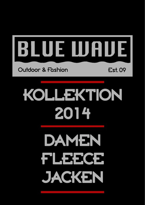 DAMEN FLEECEJACKEN BLUE WAVE KATALOG 2014