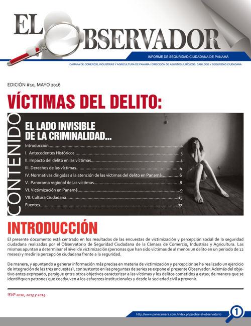 El Observador N° 10 Victimas del delito
