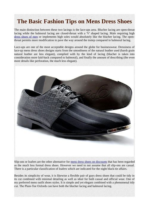 The Basic Fashion Tips on Mens Dress Shoes