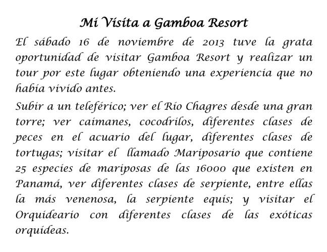 Visita a Gamboa Resort