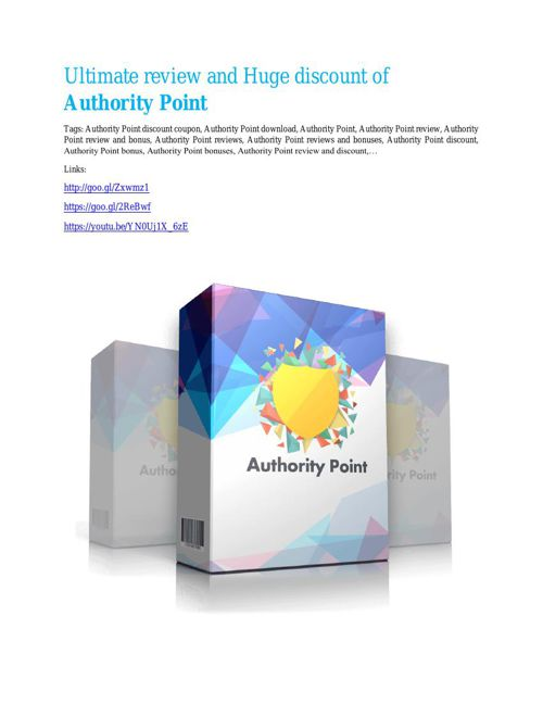 Authority Point review-(SHOCKED) $21700 bonuses