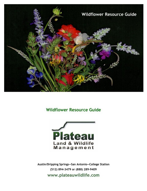 Plateau Wildflower Resource Book