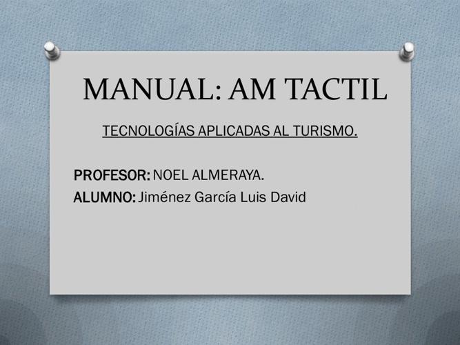 AM TACTIL