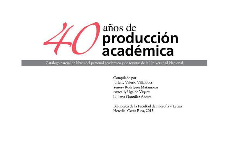 Catálogo producción académica-2013