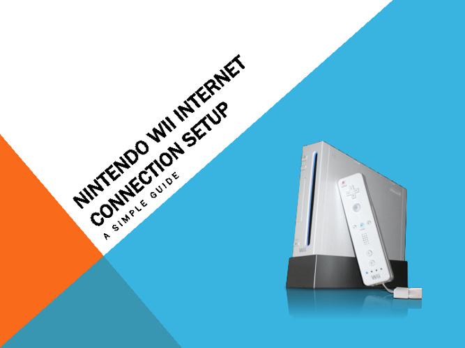 Setting up a Nintendo Wii Internet connection