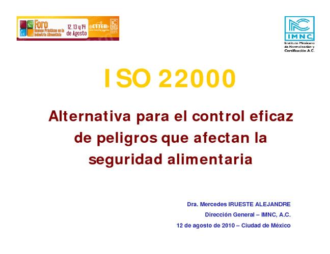 SIA ISO 22000