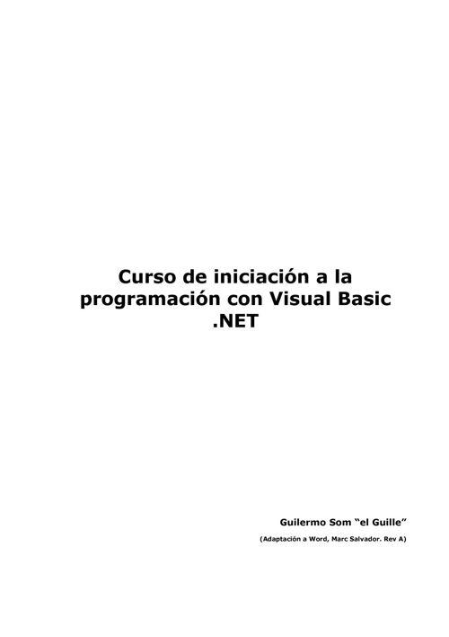CursodeiniciacionalaprogramacionenVB
