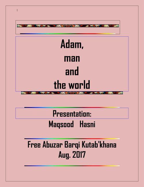 Adam, man and the world