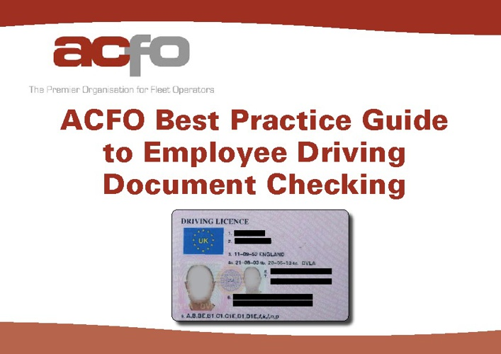 ACFO Guide to Checking Driving Documents