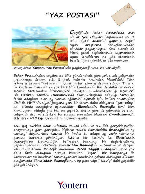 Yöntem Yaz Postası 2014