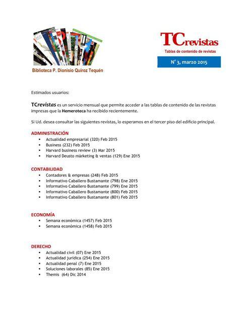 TCrevistas N°3 marzo 2015