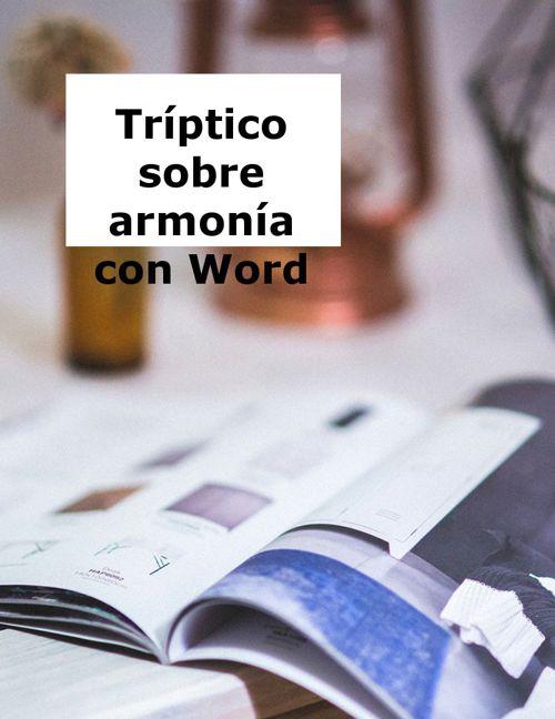 Tríptico sobre armonía con Word