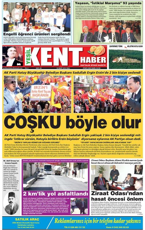 Yeşilkent Haber Gazetesi - Sayı 89