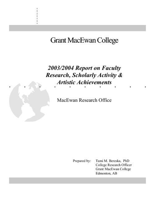 Annual Reports on Research, Scholarship and Creative Achievement