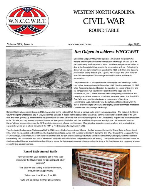 WNCCWRT Newsletter 2015 04 April