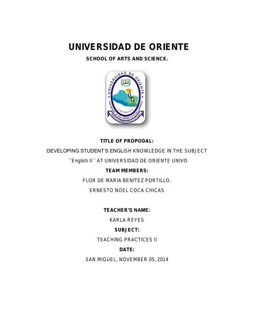 propuesta de Universidad