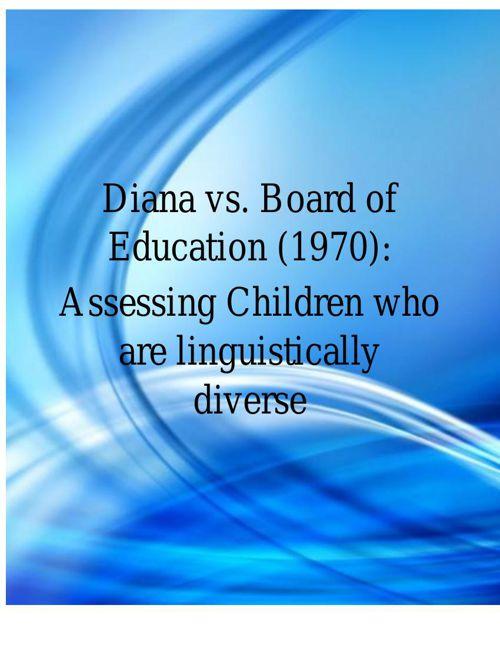 Diana vs board of education