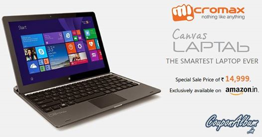 Buy Micromax Canvas Laptab at Amazon for ₹14,999
