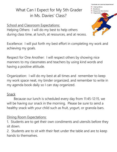 Copy of Expectations 15-16