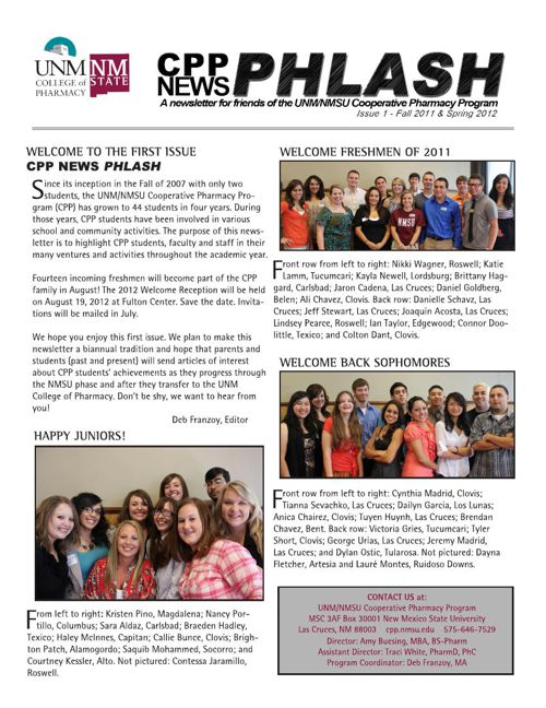 CPP News Phlash 2011-2012 #1
