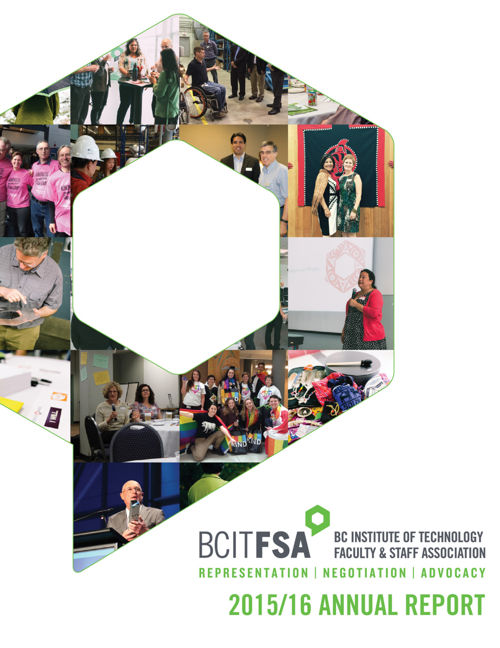 2015-16 BCIT Faculty & Staff Association Annual Reporrt