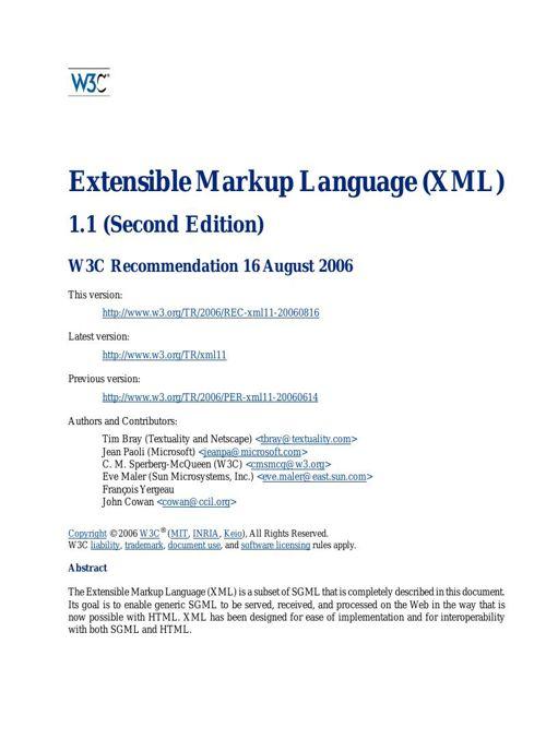 REC-xml11-20060816