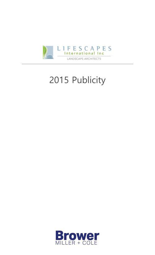 Lifescapes International 2015 Publicity