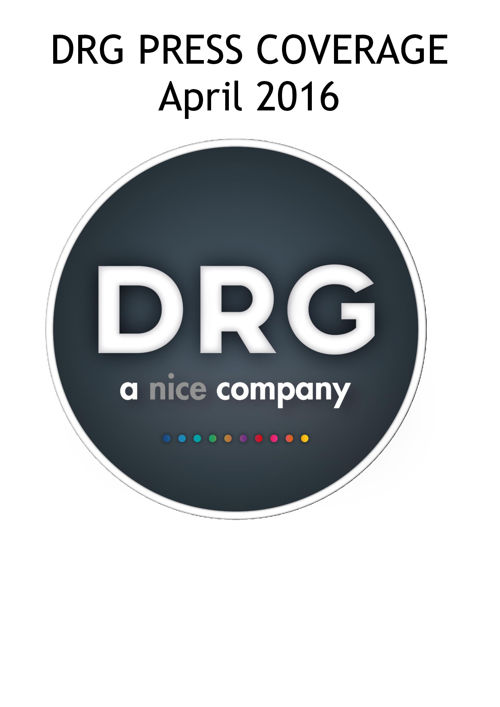 DRG Publicity Update -April 2016