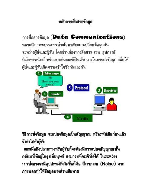 หลักการสื่อสารข้อมูล